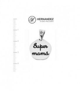 Colgante Marduk Super Mama en Nacar de Plata de Ley 925 mls   Ref: 00497-MA01