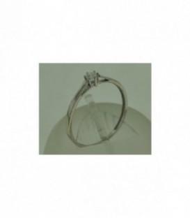 Más sobre Sortija Brillante 0,10 Qtes Oro Blanco de Ley 18 kts Ref: Z0626