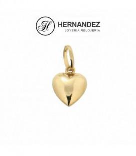 Colgante de Corazon 12 mm en oro de ley de 18 kts        Ref: 27-601-12