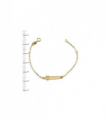 Pulsera de Bebe Oro de Ley de 18 kts Ref: 1-09427-0-9