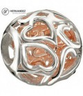 Charm Chamilia Captured Hearts - Rose Gold Wash Plata de Ley 925 mls