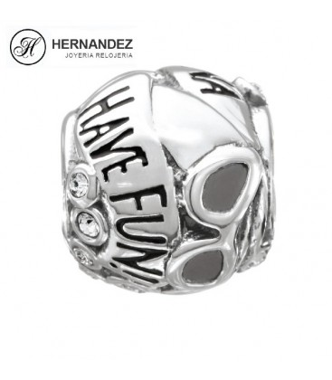 Charm Chamilia Girls Just Wanna Have Fun Swarovski Plata de Ley 925 mls