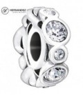 Charm Chamilia Birthstone Jewels - April Swarovski Plata de Ley 925 mls