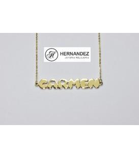 Gargantilla Nombre Carmen Oro de Ley 18 kts Ref: K-G0212-0-3