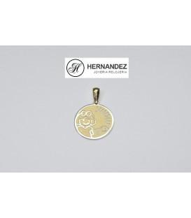 Colgante Te Quiero Mami Oro de Ley 18 kts Ref: K-G0440-0-7