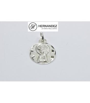 Medalla V.Niña Redonda Labrada Plata de Ley 925 mls Ref: ME-765