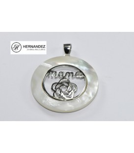 Colgante Mama Filo Nacar Plata deLey 925 mls ( CO-XL77191)