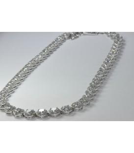 Gargantilla Circonitas de plata de ley Rodiada de 925 mls Ref : GA-XL79897