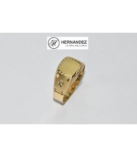 Sello de Caballero Cuadrado Lapidado de Oro de Ley de 18 Kts Ref:SPE-5600-2,60