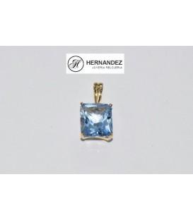 Más sobre Colgante Agua Marina Oro de Ley dxe 18 Kts Ref: 7390