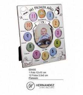 Marco de Bebe Mi Primer Año Plateado Ref: 09485