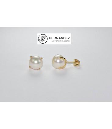 Pendiente Perla Cultivada con Garras Oro de Ley de 18 kts Ref: R48P