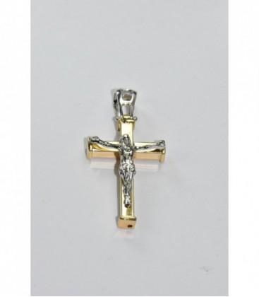 Cruz Comunion Cristo Bicolor Oro de Ley 18 kts Ref: CR-20705