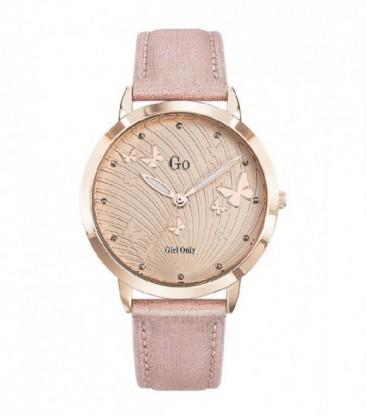 Reloj Go Mujer Correa de Piel Rosada Ref : GO-698689