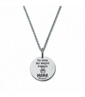 Colgante Mensaje Tu eres mi mejor Regalo Mama de Plata de Ley 925 mls