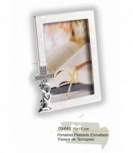 Portafoto de Comunion Plateado 10 x 15 cm Ref: 09446