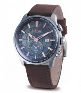 Reloj Duward Aquastar World Time Piel Ref: D85704.03