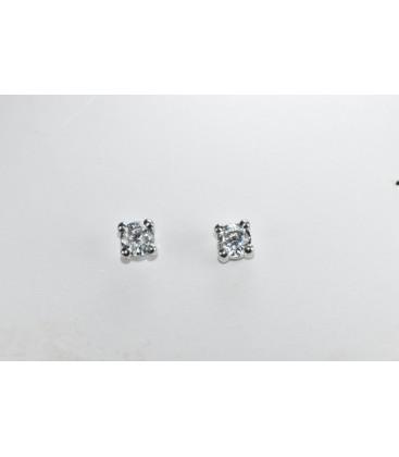 Pendientes Circonitas Oro de Ley Blanco 18 kts Ref: PE-10314XP