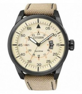Reloj Citizen Aviator Black Of Col Eco Drive Correa Nailon Ref : AW1365-19P
