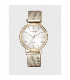 Reloj Citizen Eco Drive Acero Chapado Oro Mujer Ref: EM0576-80A