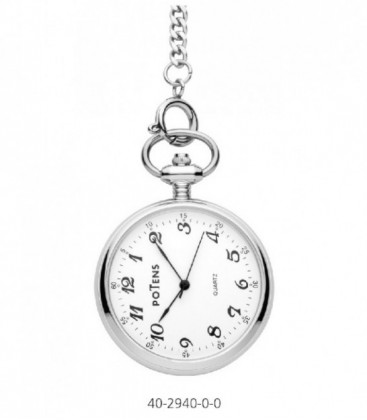Reloj Potens London de Bolsillo Analogico Acero Inoxidable Ref: 40-2940-0-0
