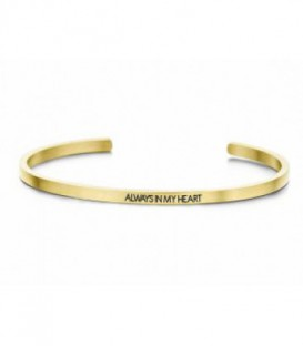 Pulsera Personalizada Always In My Heart de Acero Inoxidable Ref: 8KM-B00053