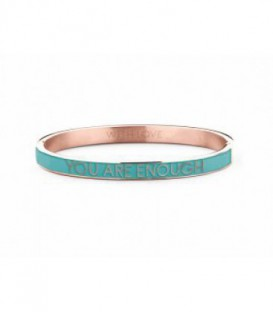 Pulsera Personalizada You Are Enough de Acero Rosado Ref: 8KM-BC0022