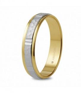 Alianza de Boda Bicolor Oro de Ley 9 kts Ref : AL-5240311