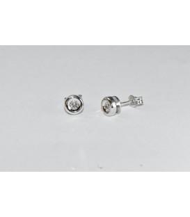 Más sobre Pendientes Brillantes 0,10 Qtes Oro Blanco de Ley 18 kts Ref: Z0600-3B