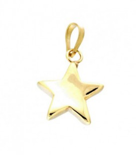 Colgante Estrella Lisa Oro de Ley 18 kts Ref : CO-19-466-68