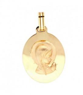 Medalla Comunion V.Niña Oro de Ley 18 kts Ref : 2-105-19