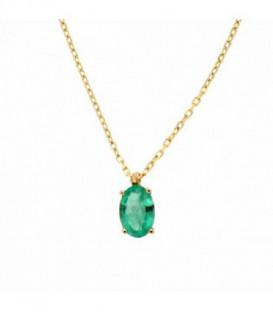 Gargantilla Esmeralda Natural Oro de Ley 18 kts Ref : GA-35-2031-E