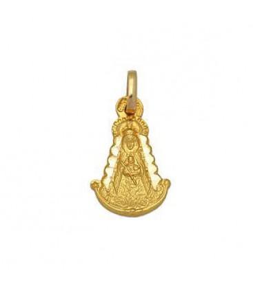Medalla V.Rocio Silueta Oro de Ley de 18 kts Ref: 21101-2-50